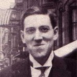 The only known photograph of Lovecraft smiling...